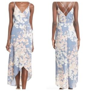 NWT Astr wrap front high/low dress